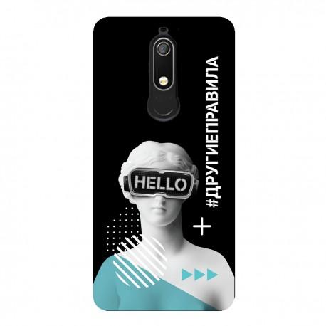 """Чехол для Nokia с принтом """"Богиня общения (черный)"""""""