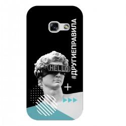"""Чехол для Samsung с принтом """"Бог общения (черный)"""""""