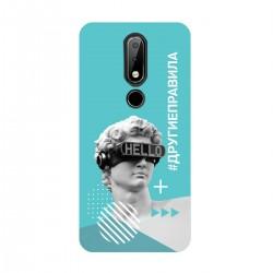 """Чехол для Nokia с принтом """"Бог общения (бирюзовый)"""""""