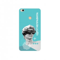 """Чехол для Xiaomi с принтом """"Бог общения (бирюзовый)"""""""