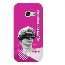 """Чехол для Samsung с принтом """"Бог общения (розовый)"""""""