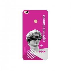 """Чехол для Xiaomi с принтом """"Бог общения (розовый)"""""""