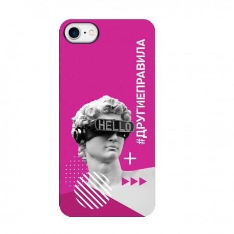 """Чехол для Apple iPhone с принтом """"Бог общения (розовый)"""""""
