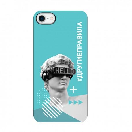 """Чехол для Apple iPhone с принтом """"Бог общения (бирюзовый)"""""""