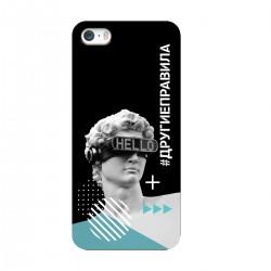 """Чехол для Apple iPhone с принтом """"Бог общения (черный)"""""""