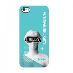 """Чехол для Apple iPhone с принтом """"Богиня общения (бирюзовый)"""""""
