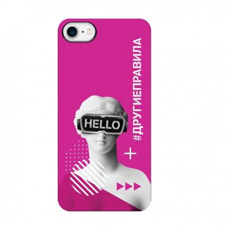 """Чехол для Apple iPhone с принтом """"Богиня общения (розовый)"""""""