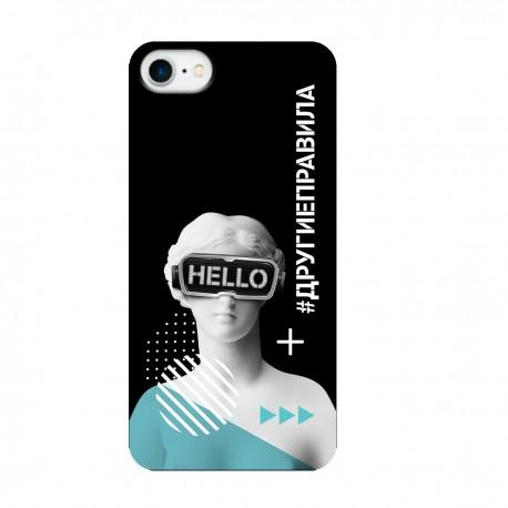 """Чехол для Apple iPhone с принтом """"Богиня общения (черный)"""""""