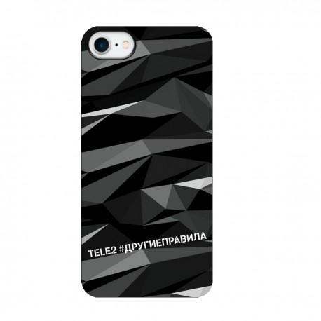 """Чехол для Apple iPhone с принтом """"Многогранный, как я (черный)"""""""