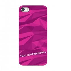 """Чехол для Apple iPhone с принтом """"Многогранный, как я (розовый)"""""""