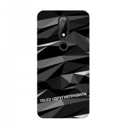 """Чехол для Nokia с принтом """"Многогранный, как я (черный)"""""""