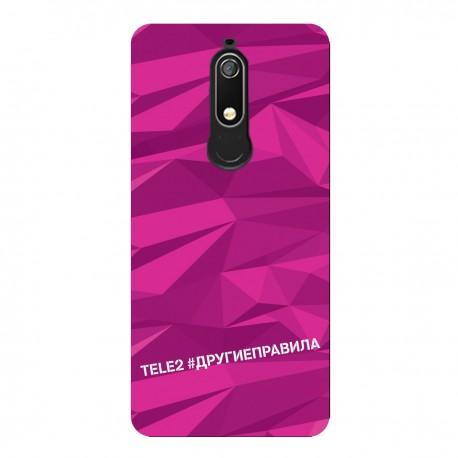 """Чехол для Nokia с принтом """"Многогранный, как я (розовый)"""""""