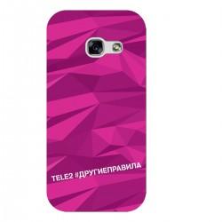 """Чехол для Samsung с принтом """"Многогранный, как я (розовый)"""""""